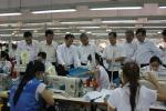 Đ/c Đặng Ngọc Tùng, UVTW Đảng, Chủ tịch Tổng Liên đoàn Lao động Việt Nam thăm và làm việc với Công ty May Tiến Thuận